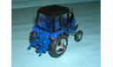 Трактор МТЗ-82 с зеркалами и дворниками (синий) тип 2, масштабная модель, 1:43, 1/43, Компаньон