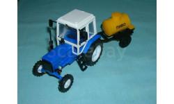 Трактор МТЗ-82 с прицепом 'Пиво' (Тантал+Компаньон) син.