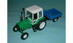 Трактор МТЗ-82 с прицепом (зел.-син.) с зерк.