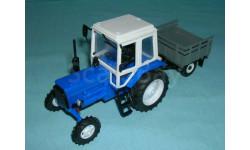 Трактор МТЗ-82 с зерк., с прицепом уаз-с/х, масштабная модель, 1:43, 1/43, Компаньон