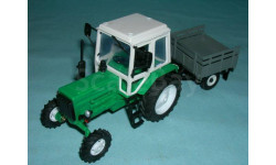 Трактор МТЗ-82 с зерк., с прицепом уаз-с/х (зел.), масштабная модель, 1:43, 1/43, Компаньон