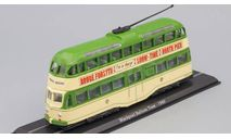 трамвай Blackpool Balloon Tram 1960 Green/Beige, масштабная модель, Atlas, scale87
