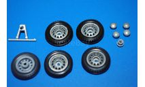 ВАЗ НИВА  комплект колес, сборная модель автомобиля, Агат/Моссар/Тантал, scale43