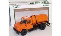 Зил-4331 КО-520  оранжевый, масштабная модель, МАЗ, 1:43, 1/43