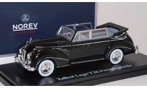 TALBOT LAGO T26 президента Франции Венсана Ориоля 1950 Black, масштабная модель, scale43, Rolls-Royce