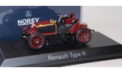 RENAULT Type K 1902 Maroon, масштабная модель, 1:43, 1/43