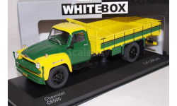 CHEVROLET C 6500 (бортовой грузовик) 1958 Yellow/Dark Green, масштабная модель, WhiteBox, scale43