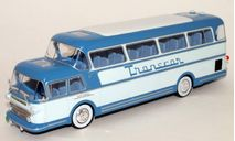 ISOBLOC 656 DH PANORAMIQUE 'Transcar ' FRANCE 1956 Blue, масштабная модель, scale43, Ikarus