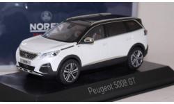 PEUGEOT 5008 GT (кроссовер) 2016 Pearl White, масштабная модель, scale43