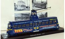 трамвай Railcoach (Brush) Blackpool Brush Tram 1937 Blue, железнодорожная модель, scale87