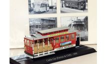 трамвай Cable Car (Ferries & Cliff) San Francisco Tram 1888 Red, железнодорожная модель, scale87