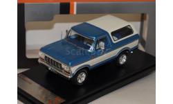 FORD Bronco 4x4 1978 Metallic Blue/White, масштабная модель, 1:43, 1/43
