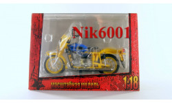 MSM0010 Мотоцикл Миасский ИМЗ-8.923 Патруль ГАИ, масштабная модель, 1:18, 1/18, MSModels, Иж