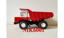 Н001 БЕЛАЗ-540 самосвал, красный / белый