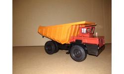 Н0051 БЕЛАЗ-7510 самосвал, красный / оранжевый