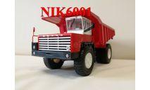 Н007 БЕЛАЗ-548 самосвал, красный / белый, масштабная модель, 1:43, 1/43, Наш Автопром