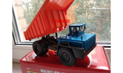 Н0112 БЕЛАЗ-7525 самосвал, синий/ оранжевый, масштабная модель, 1:43, 1/43, Наш Автопром