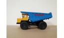 Н0122 БЕЛАЗ-7527 самосвал, желтый / синий, масштабная модель, scale43, Наш Автопром