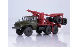 101449 Миасский грузовик 43204-10 лесовоз с прицепом-роспуском, масштабная модель, 1:43, 1/43, Автоистория (АИСТ), УРАЛ