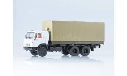 102002.бт КАМАЗ-53212 бортовой с тентом, масштабная модель, 1:43, 1/43, Автоистория (АИСТ)