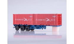 102163 Полуприцеп-контейнеровоз МАЗ-938920 с контейнерами Hamburg Sud