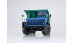 10235 Карьерный самосвал БЕЛАЗ-540А (решётка с 5 поперечинами), синий/зелёный, масштабная модель, 1:43, 1/43, Дилерские модели БЕЛАЗ