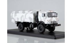 SSM1302 КАМАЗ-43502 Мустанг камуфляж Арктика