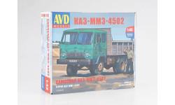 1324AVD Сборная модель КАЗ-ММЗ-4502 самосвал, сборная модель автомобиля, Автомобиль в деталях (by SSM), scale43