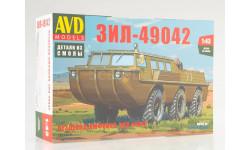 1357AVD Сборная модель Вездеход-амфибия ЗИЛ-49042, сборная модель автомобиля, Автомобиль в деталях (by SSM), scale43