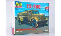 1372AVD Сборная модель Топливозаправщик Т3-200 (МАЗ-200), сборная модель автомобиля, AVD Models, scale43