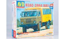 1383AVD Сборная модель Вахтовый автобус НЗАС-3964 (ГАЗ-66), сборная модель автомобиля, scale43, AVD Models