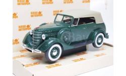 H160b Горький-11-40 с тентом (зеленый), масштабная модель, scale43, Наш Автопром, ГАЗ