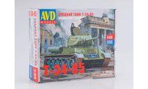 3008AVD Сборная модель Средний танк T-34-85, сборная модель автомобиля, 1:43, 1/43, Автомобиль в деталях (by SSM), Т-34-85