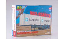7035AVD Сборная модель Полуприцеп-контейнеровоз МАЗ-938920, сборная модель автомобиля, scale43, Автомобиль в деталях (by SSM)