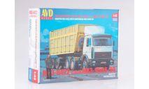 7040AVD МАЗ-6422 с полуприцепом МАЗ-9506-30, сборная модель автомобиля, scale43, AVD Models