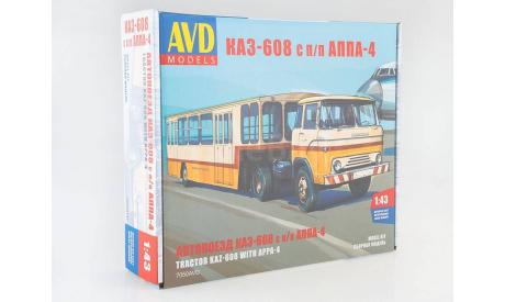 7050AVD Сборная модель Автопоезд КАЗ-608 с полуприцепом АППА-4, сборная модель автомобиля, scale43, AVD Models