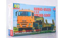 7056AVD Сборная модель КАМАЗ-65225 с полуприцепом ЧМЗАП-5247Г, масштабная модель, scale43, AVD Models
