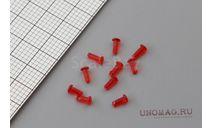 Фонарь УП-5 (красный) , диаметр фонаря 2,2 мм., диаметр ножки 1,3 мм. комплект-10 шт., запчасти для масштабных моделей, Три А Студио, scale43