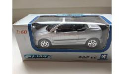 Peugeot 206CC Welly, масштабная модель, scale64