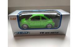 Volkswagen New Beetle Welly, масштабная модель, scale64