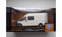 ГАЗель Некст A32R32 микроавтобус, белый Н654, масштабная модель, scale43, Наш Автопром