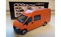 ГАЗель Некст A32R32 микроавтобус, оранжевый Н655, масштабная модель, Наш Автопром, scale43