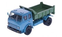 H757a МАЗ-503А самосвал, 1970 г. (голубой/зелёный), масштабная модель, scale43, Наш Автопром