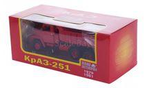 Н774 КРАЗ 251 самосвал (1979-1981), красный, масштабная модель, 1:43, 1/43, Наш Автопром