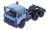 Н798 МАЗ 64221 седельный тягач (1989-1991), голубой, масштабная модель, scale43, Наш Автопром