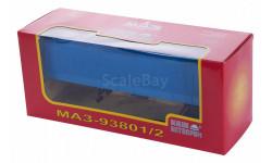 H852 МАЗ-93801/2 полуприцеп с тентом, синий НАП, масштабная модель, 1:43, 1/43, Наш Автопром