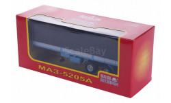 H853 МАЗ 5205А полуприцеп с тентом, голубой с серым