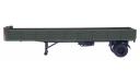 H857 МАЗ 93801/2 полуприцеп, хаки, масштабная модель, 1:43, 1/43, Наш Автопром