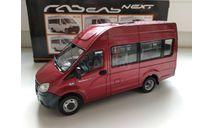ГАЗель Некст A65R22 микроавтобус, красный Н659, масштабная модель, scale43, Наш Автопром