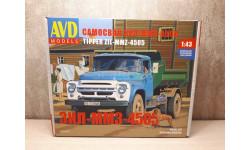 ЗИЛ-ММЗ-4505 самосвал сборная модель, сборная модель автомобиля, AVD Models, scale43